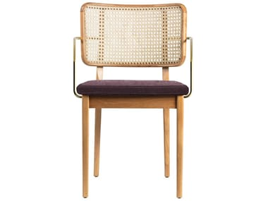 Vintage style wicker chair with armrests WICKER | Vintage style chair