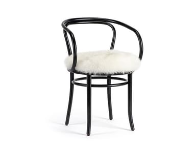 Upholstered beech chair WIENER STUHL - CHRISTMAS EDITION | Open back chair
