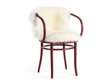Upholstered beech chair WIENER STUHL - CHRISTMAS EDITION | Chair