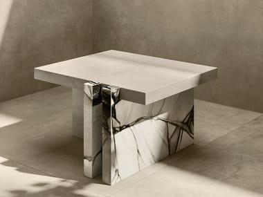 Rectangular porcelain stoneware coffee table WILD FLOWER