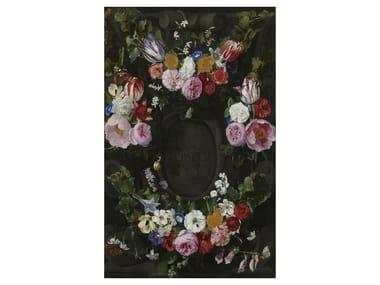 Rectangular velour fabric rug WILD FLOWERS