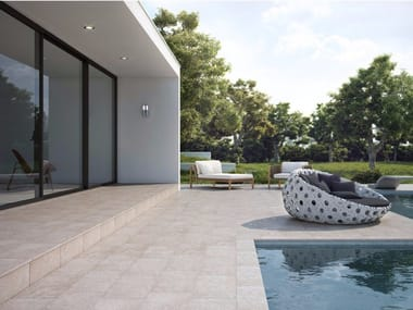 Porcelain stoneware outdoor floor tiles with stone effect WILD ROCK