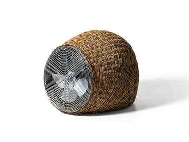 Floor standing fan in handwoven dark pulut WIND L