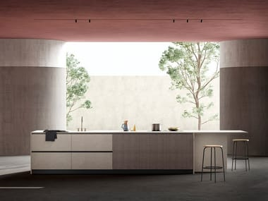 Cement kitchen with island WIND