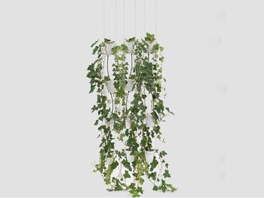Sistema di vasi in porcellana per coltura idroponica WINDOW GARDEN PENDANT