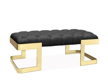 Upholstered leather bench WINFREY   Bench