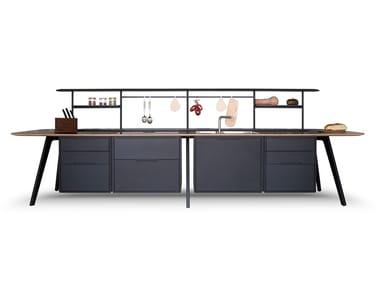 Unidad de cocina de madera WING KITCHEN