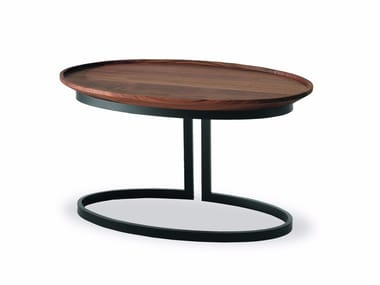 Oval wooden coffee table WING | Oval coffee table