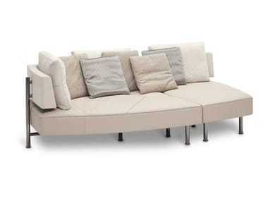 Convertible fabric sofa WING - OPEN BASE