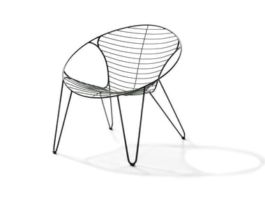 Stackable stainless steel easy chair WIRE | Easy chair