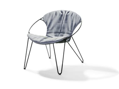 Upholstered stackable fabric easy chair WIRE | Fabric easy chair