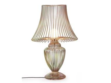Direct light fluorescent aluminium floor lamp WIRE | Floor lamp