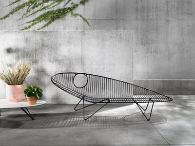 Lettino da giardino in acciaio inox WIRE | Lettino da giardino