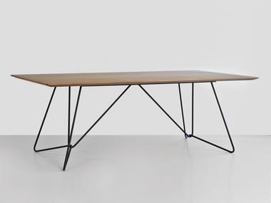 Tavolo rettangolare in legno impiallacciato WIRED