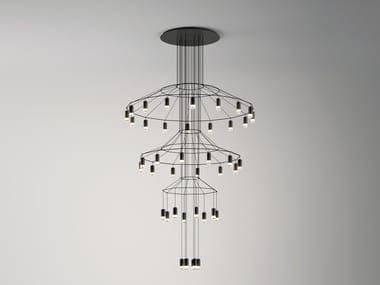 LED pendant lamp with dimmer WIREFLOW CHANDELIER | Pendant lamp