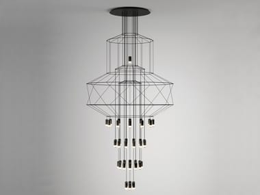 LED pendant lamp with dimmer WIREFLOW CHANDELIER 0374
