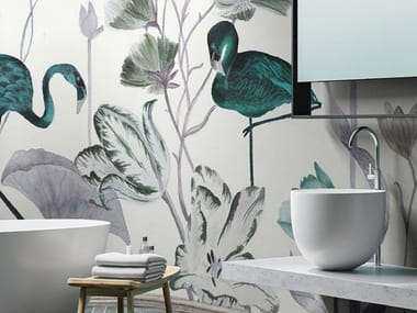 Tropical wallpaper, PVC free, eco-friendly, washable WONDERLAND