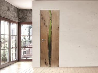 Hinged oak door GROOVE | Hinged door