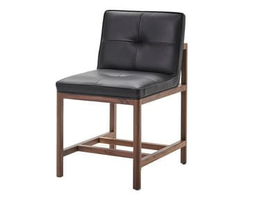 Wood and upholstered chair WOOD FRAME DINING | Armless Chair