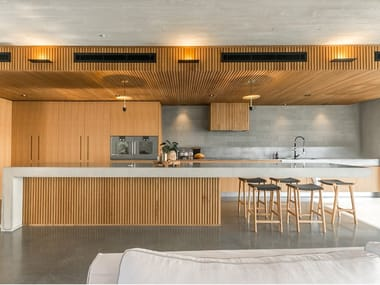 Custom wooden kitchen with island WOOD