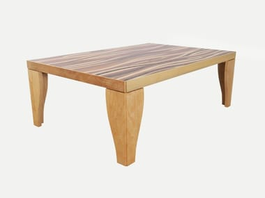 Low lacquered rectangular wooden coffee table WOOD WAVES | Coffee table