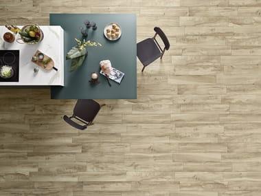 Indoor/outdoor porcelain stoneware flooring with wood effect WOODEN