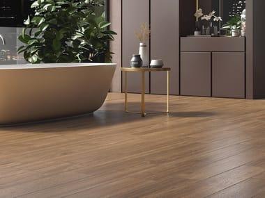 Pavimento/rivestimento in gres laminato effetto legno WOODLAND - TROPICAL