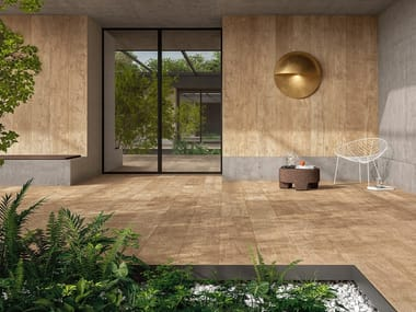 Laminated stoneware wall/floor tiles with wood effect WOODLAND - WALDEN
