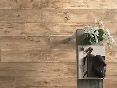 Porcelain stoneware flooring with wood effect WOODMANIA