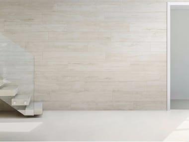Pavimento/rivestimento in gres porcellanato effetto legno WOODRAW ARTIC