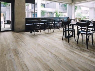 Pavimento in gres porcellanato effetto legno WOODRAW POWDER