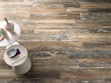 Pavimento in gres porcellanato effetto legno WOODRAW RUST