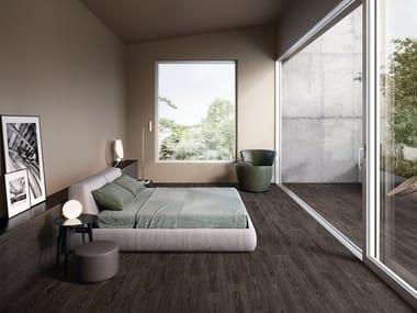 Revêtement de sol/mur en grès cérame effet bois WOODTOUCH WENGE