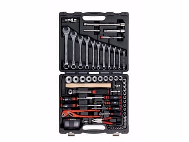 Tool case with 91 tools Tool case Worker 91 pcs