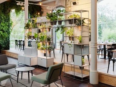Sectional shelving unit WORLD OF PLANTS FOR USM HALLER | Bookcase