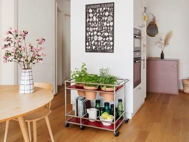 Serving cart WORLD OF PLANTS FOR USM HALLER | Food trolley
