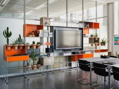 Media office shelving WORLD OF PLANTS FOR USM HALLER | Office shelving