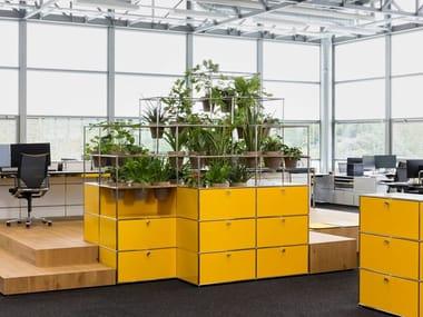 Modular office storage unit WORLD OF PLANTS FOR USM HALLER | Office storage unit