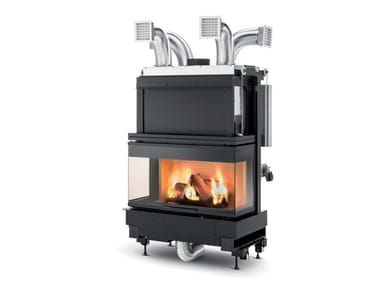 Wood-burning 3-sided fireplace Class A+ WT 16:9 3D V12ET