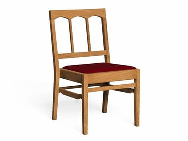 Wooden chair with integrated cushion WYKEHAM