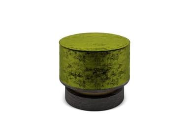 Round velvet pouf WYO