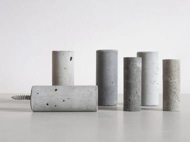 Wall-mounted concrete coat rack Coat rack