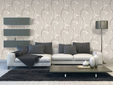 Damask vinyl wallpaper Wallpaper