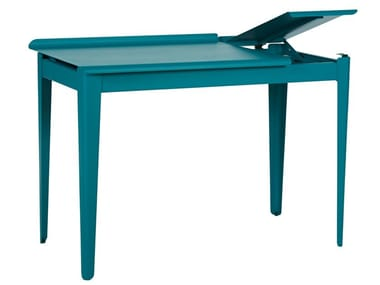 Rectangular metal writing desk CLAPET | Writing desk