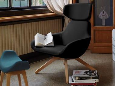 Fabric armchair with headrest X 2BIG | Armchair