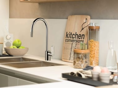Miscelatore da cucina a ponte con doccetta estraibile X-LIGHT KITCHEN | Miscelatore da cucina