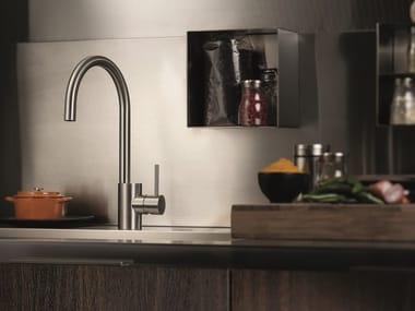 Miscelatore da cucina da piano in acciaio inox con bocca girevole X-MIX | Miscelatore da cucina