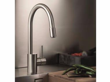 Miscelatore da cucina in acciaio inox con doccetta estraibile X-MIX | Miscelatore da cucina in acciaio inox
