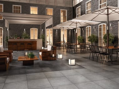 Porcelain stoneware outdoor floor tiles with concrete effect X-PLANE OUTDOOR