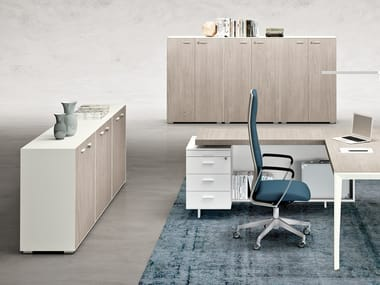 Office storage unit with hinged doors X9 | Office storage unit